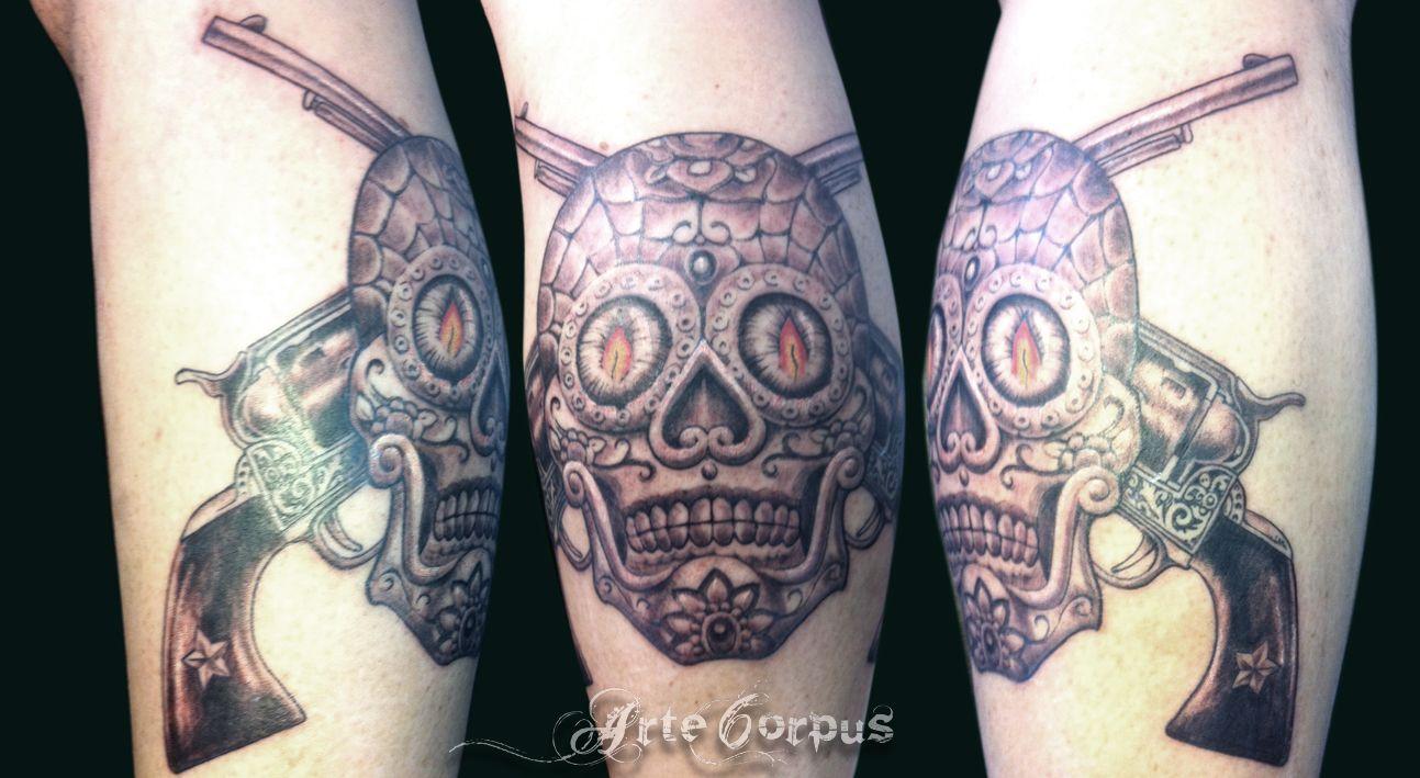 Skull By Pierrot Tatouage Marseille Arte Corpus Tattoos Arte