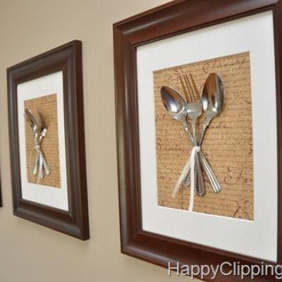 quadri con posate applicate | Kitchen Wall Art {per Norma ...