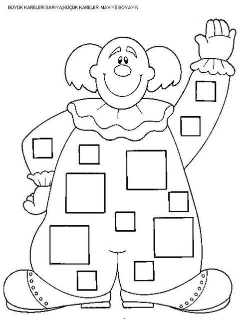 Boyamasayfasi Boyama Okuloncesi Sekiller Sekil Geometriboyama Boyama Sayfalari Okul Oncesi Okul
