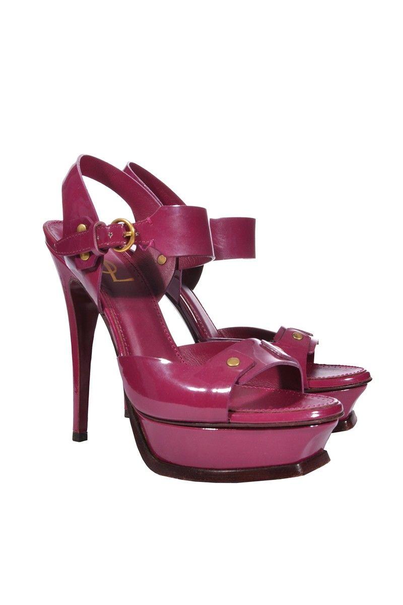 #YvesSaintLaurent | Stylishe Plateau-#Sandaletten aus Lackleder, Gr. 37,5 | Yves Saint Laurent Sandaletten | mymint-shop.com | Ihr #OnlineShop für Secondhand / Vintage #Designerkleidung & #Accessoires bis zu -90% vom Neupreis das ganze Jahr #mymint