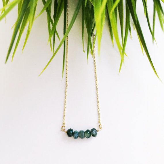Moss Agate Necklace from Midori Jewelry