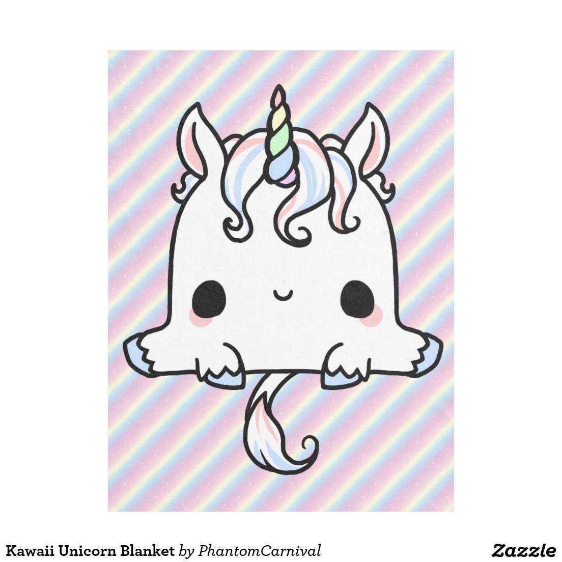 Kawaii Unicorn Blanket | Zazzle.com | Cute kawaii drawings, Unicorn drawing, Unicorn pictures