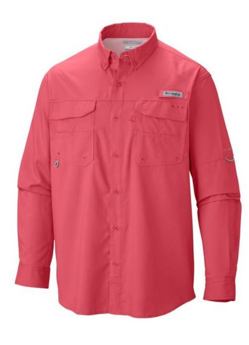 3caba7b0115 Blood and Guts Long Sleeve in Sunset Red by Columbia Sportswear in ...