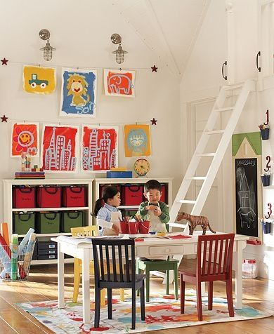 Interesting ideas for the kids playroom