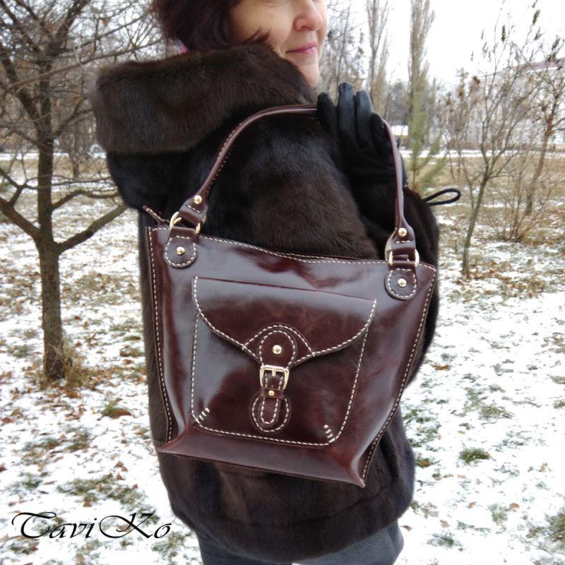64472802af4e Женская кожаная сумка