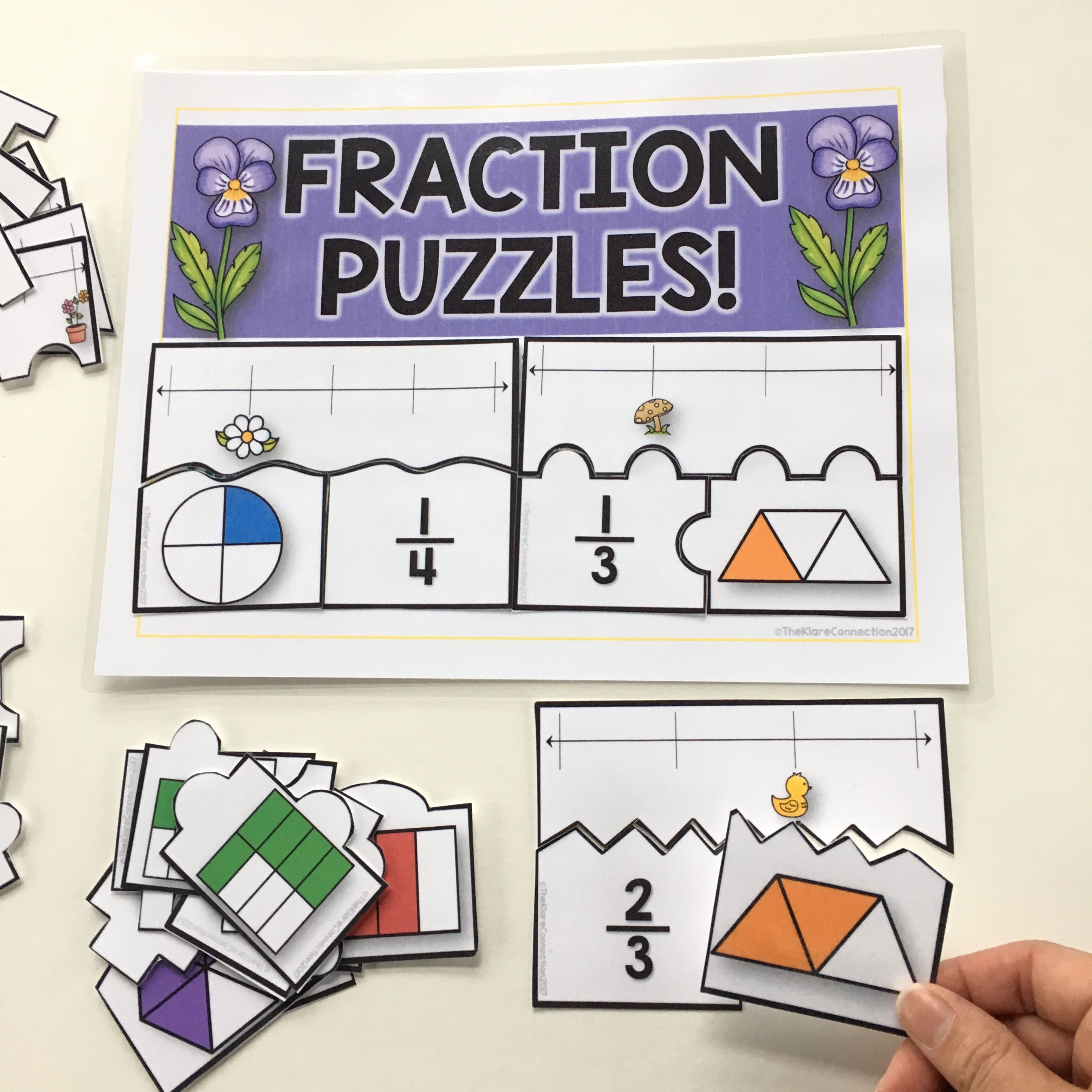 Spring Math Fractions Fact Families Elapsed Time Error