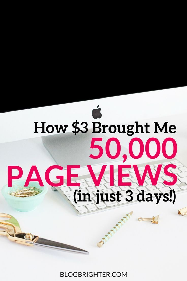 How $3 Brought Me 50,000 Page Views (in 3 Days!) - a tip for bringing viral traffic to your blog | blogging tips | blogbrighter.com