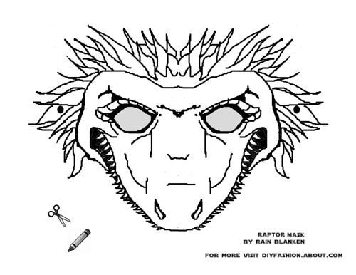 Dinosaur Masks to Print | Magic tree houses, Activities and School