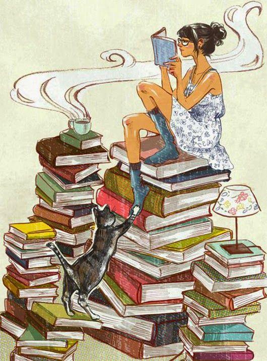 Resultado de imagem para pilhas de livros