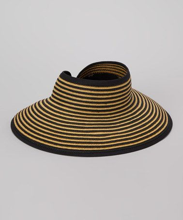 f76550b5552 Take a look at this Black Two-Tone Roll-Up Visor by Boardwalk Style on   zulily today! Also in Purple