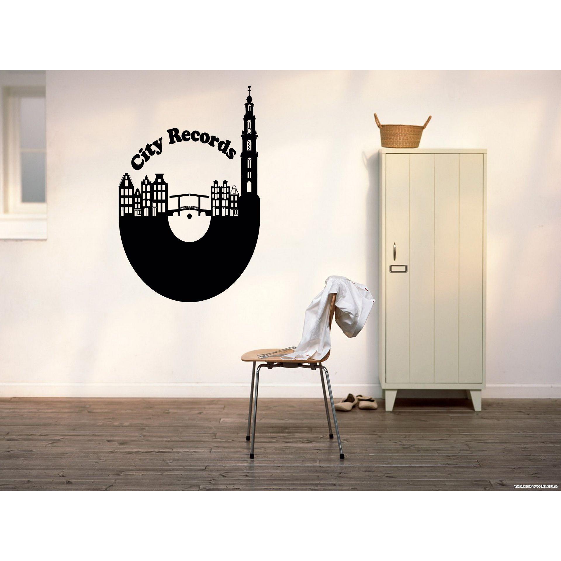 Amsterdam city Records Wall Art Sticker Decal