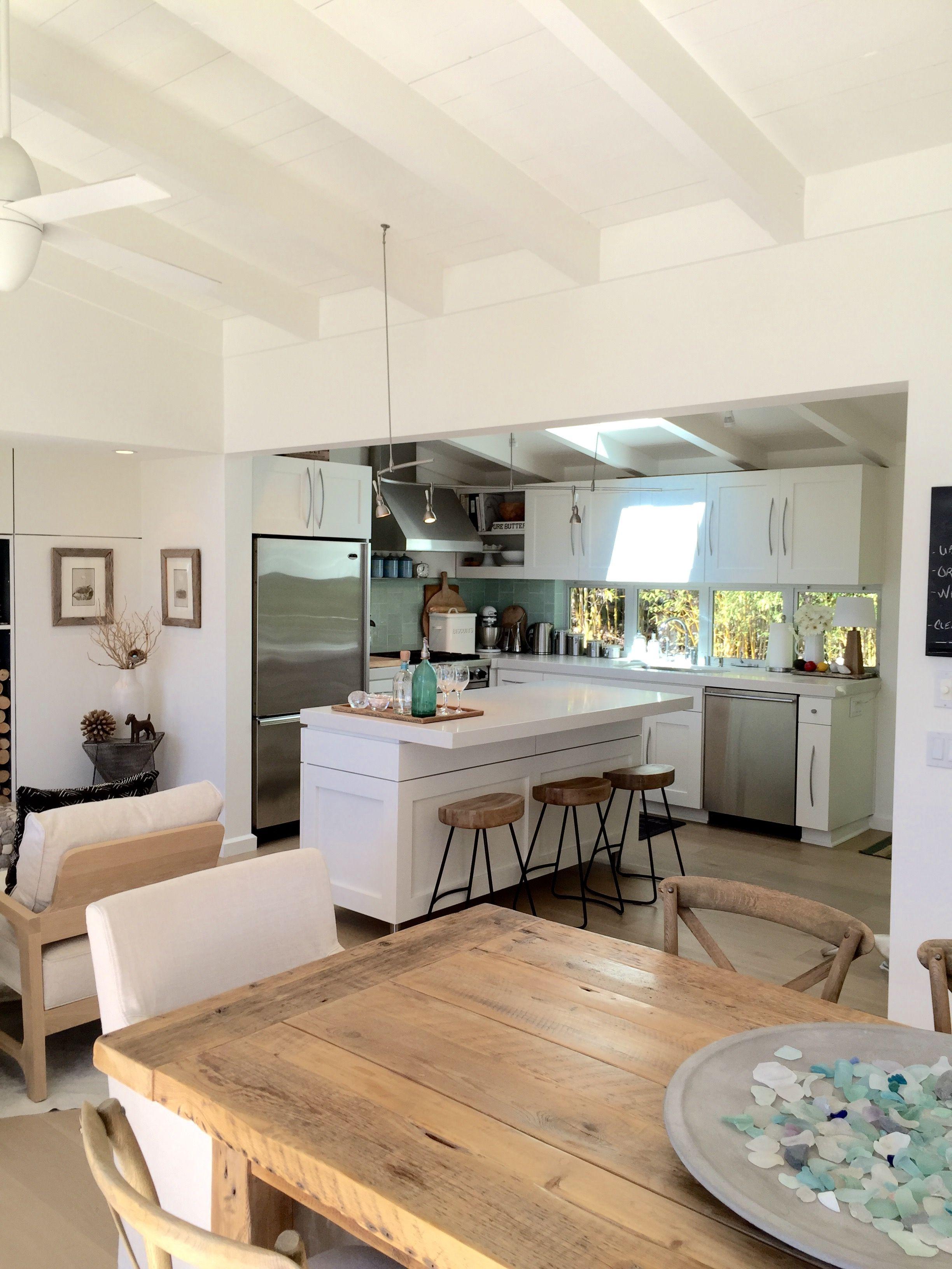 White Kitchen Santa Barbara Glass House Home Decor Interior