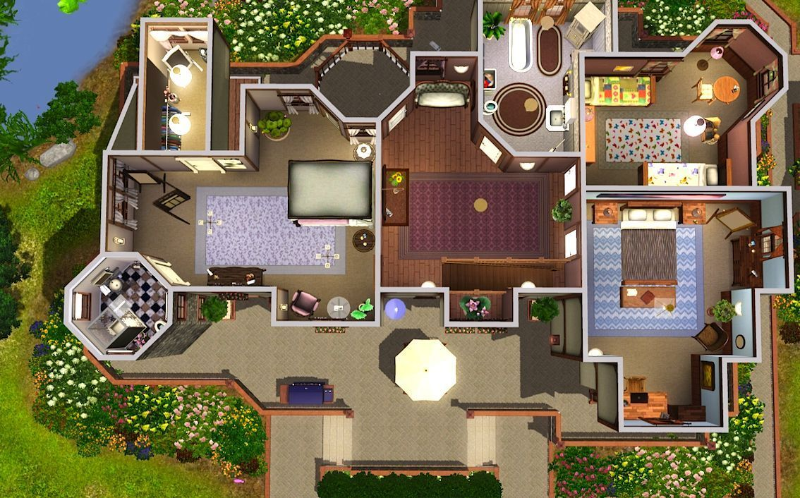 The Cheapest Cost To Design A House Sims House Design Sims 3 Houses Plans Sims House