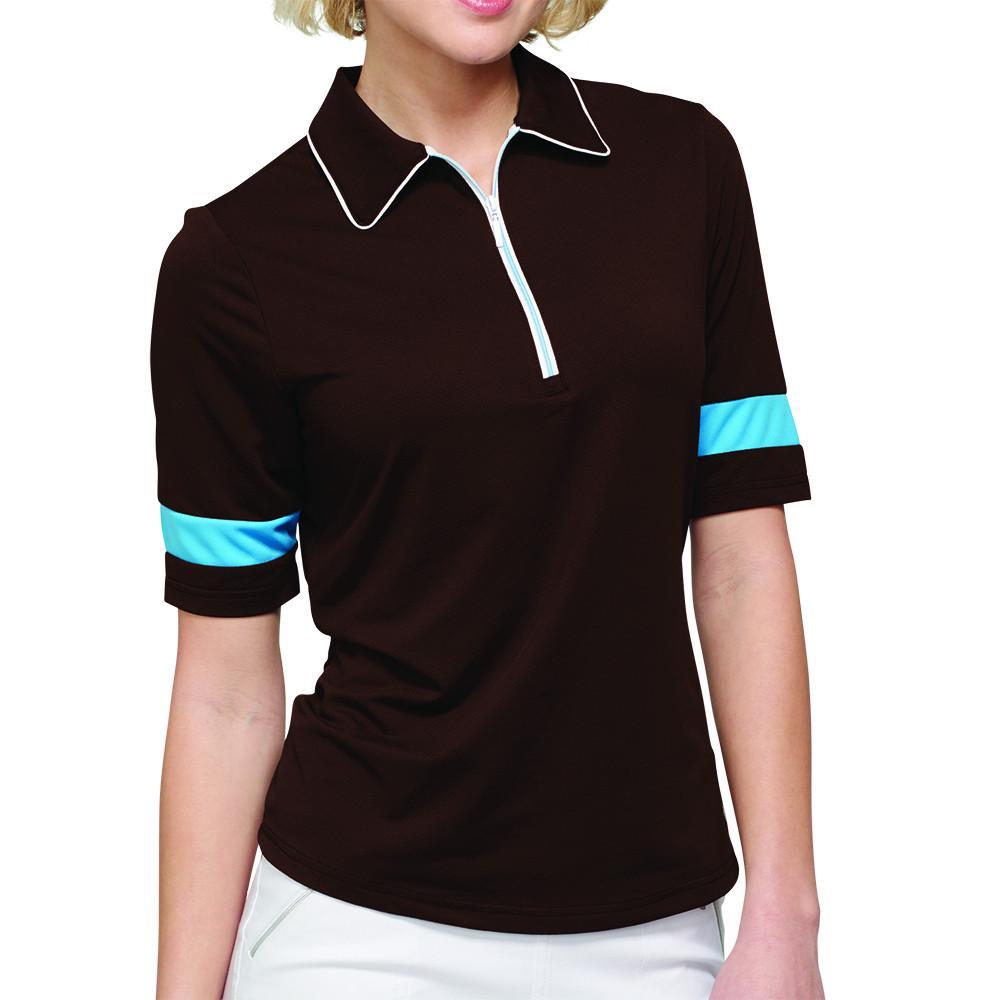 Gg Blue Serengeti Sparkles Iris Polo Golf Outfit Golf Outfits Women Golf Shirts