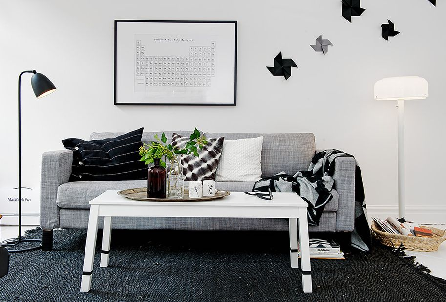 Decoraci n en blanco negro y gris home living rooms for Decoracion blanco y gris