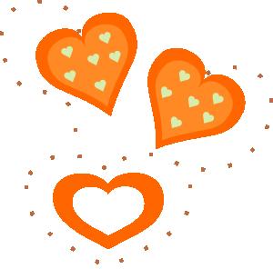 Happy V Day With Non Traditional Hearts Love The Orange Free Clip Art Clip Art Valentine