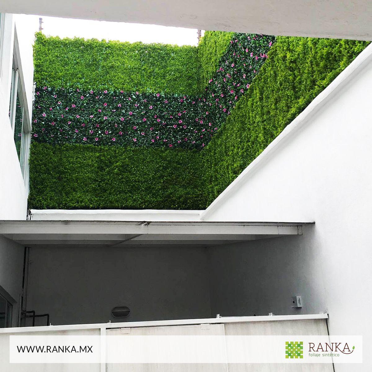 Follaje artificial para crear espacios envidiables - Como hacer un muro verde ...