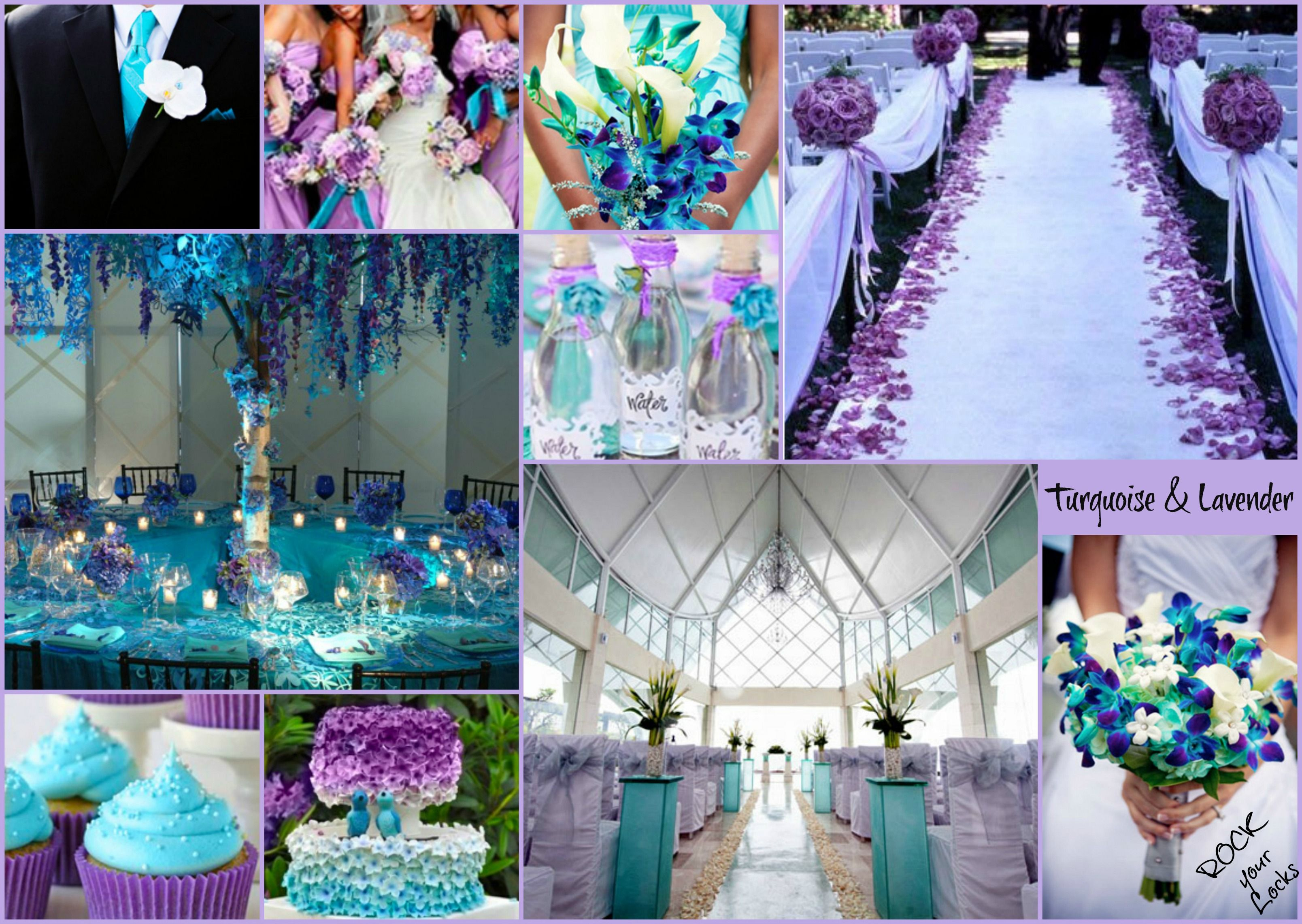 LAVENDER AND TURQUOISE WEDDING inspiration by Rock your Locks | My ...