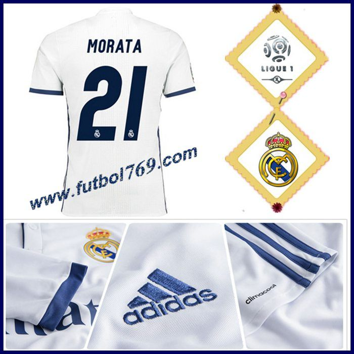 Las Nuevas Camiseta Del Real Madrid MORATA 21 Titular Blanco 2016 2017  Personalizadas 5b0714ab2040c