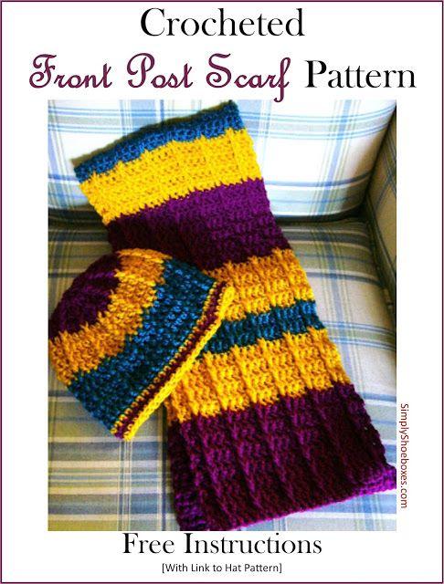 Crocheted Double Crochet Front Post Scarf Crochet Projects
