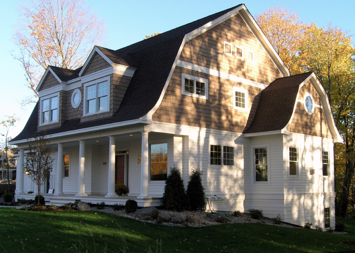 House Two Tone Colors Dutch Colonial Exterior Dutch Colonial Homes Colonial Exterior