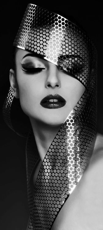 Fashion Photography Black And White Face