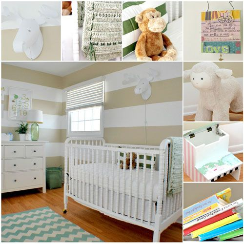 Beige Stripes To Match Potterybarn Kids Bedding Baby Room