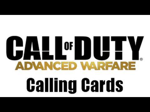 Call Of Duty Advanced Warfare Multiplayer Calling Cards Call Of Duty Advanced Warfare Calling Cards