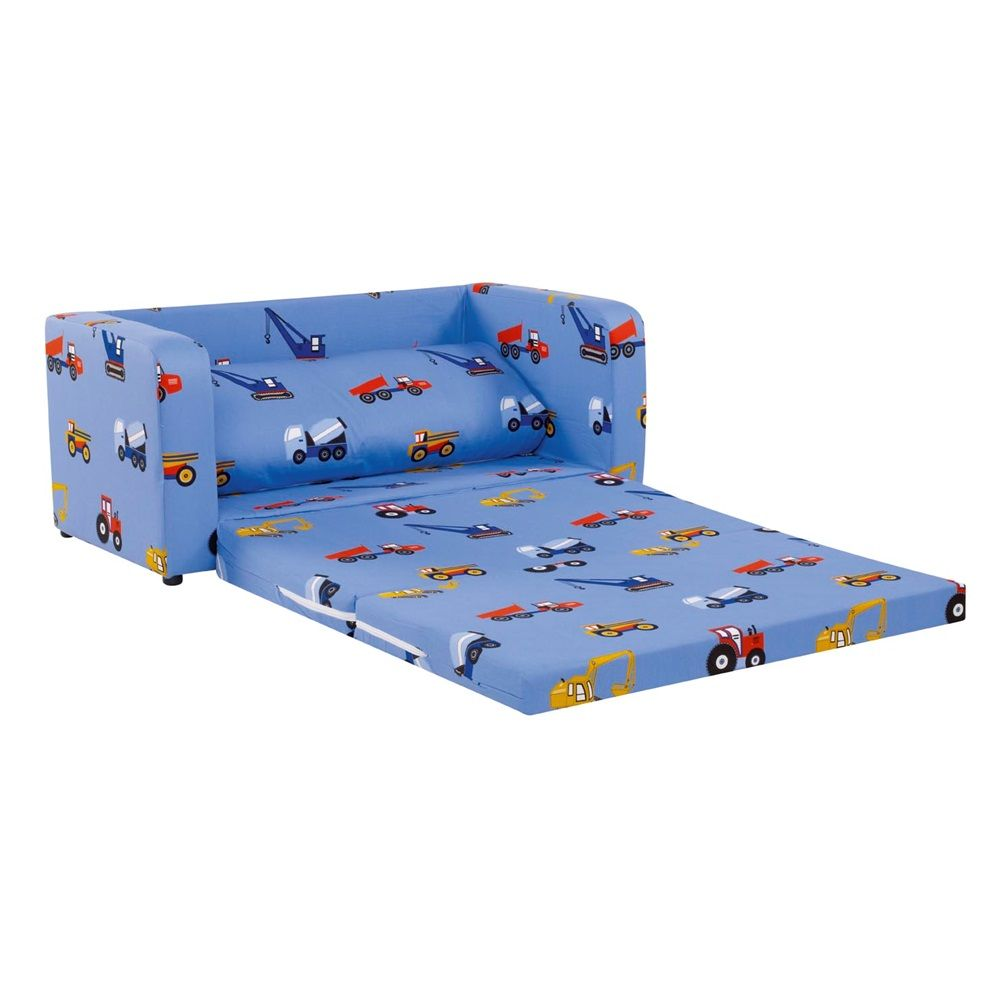 Sectional Sofas CHILDREN uS FOLDING SOFA BED in Blue Toy Truck Design