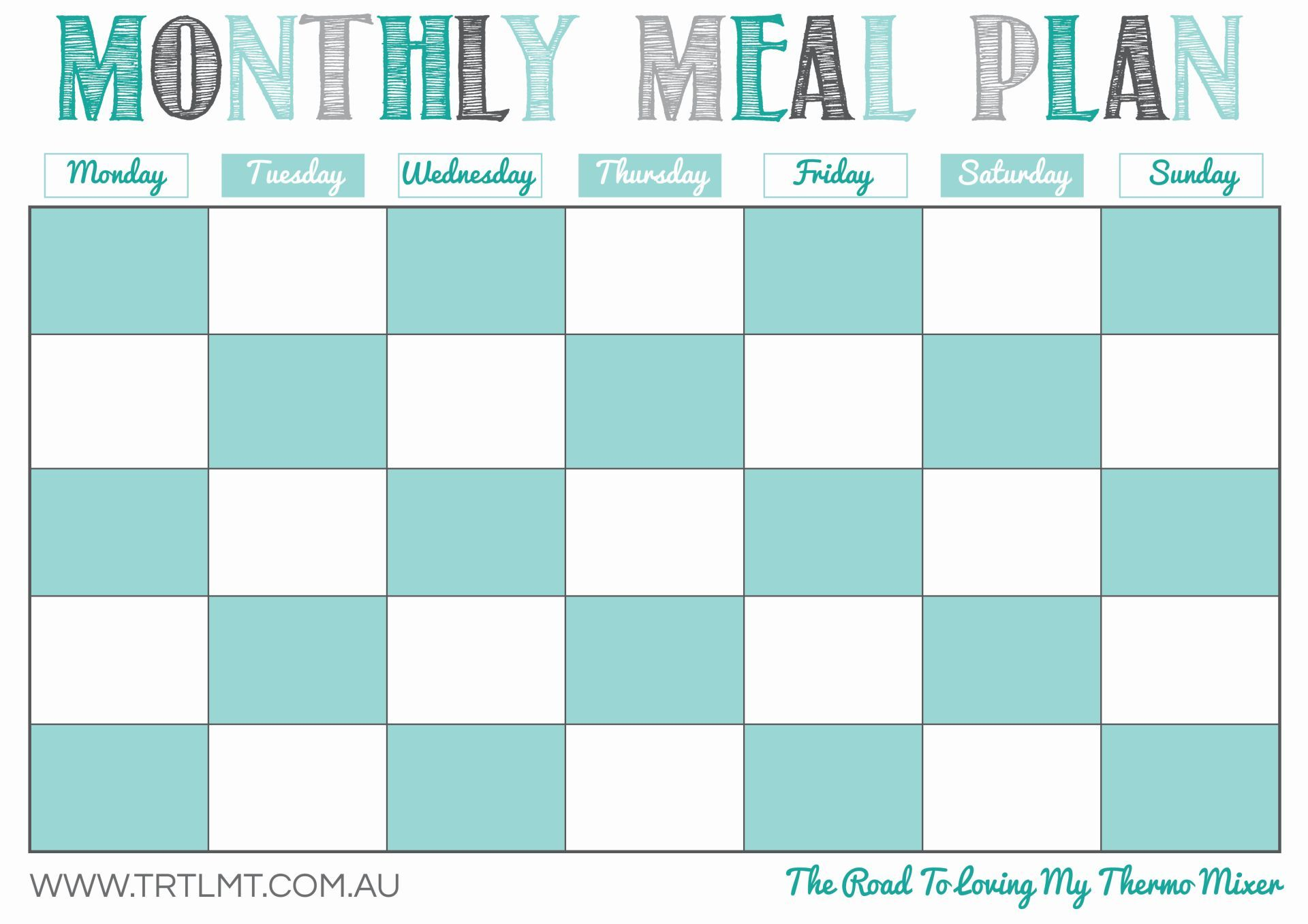 Monthly Meal Plan Fb In 2021 Monthly Meal Planning Meal Planner Printable Printables