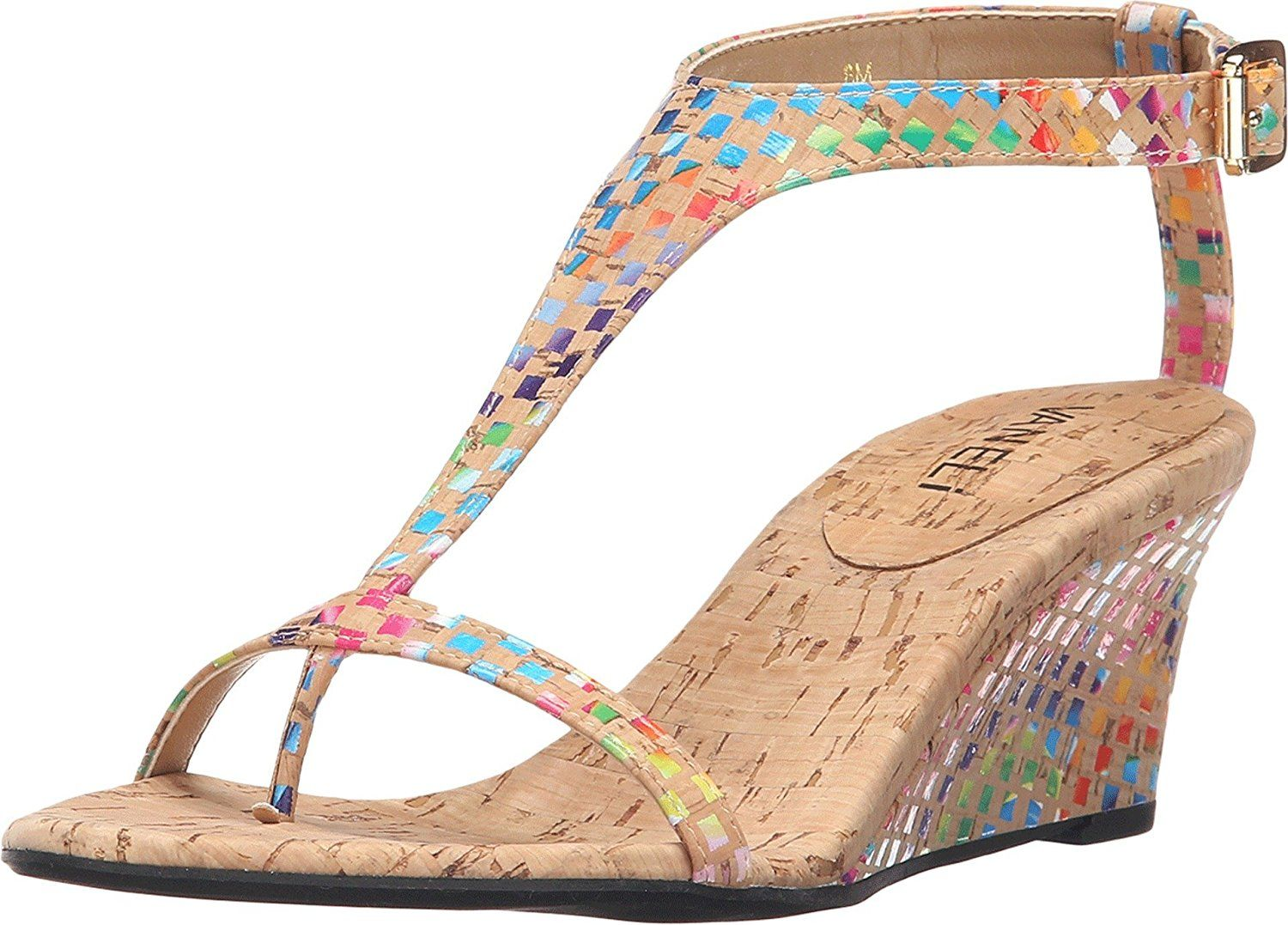 07c2e06212 Vaneli Women's Marion Natural Multi Cork Sandal 9 1/2 M (B) * Check out  this great image : Strappy sandals