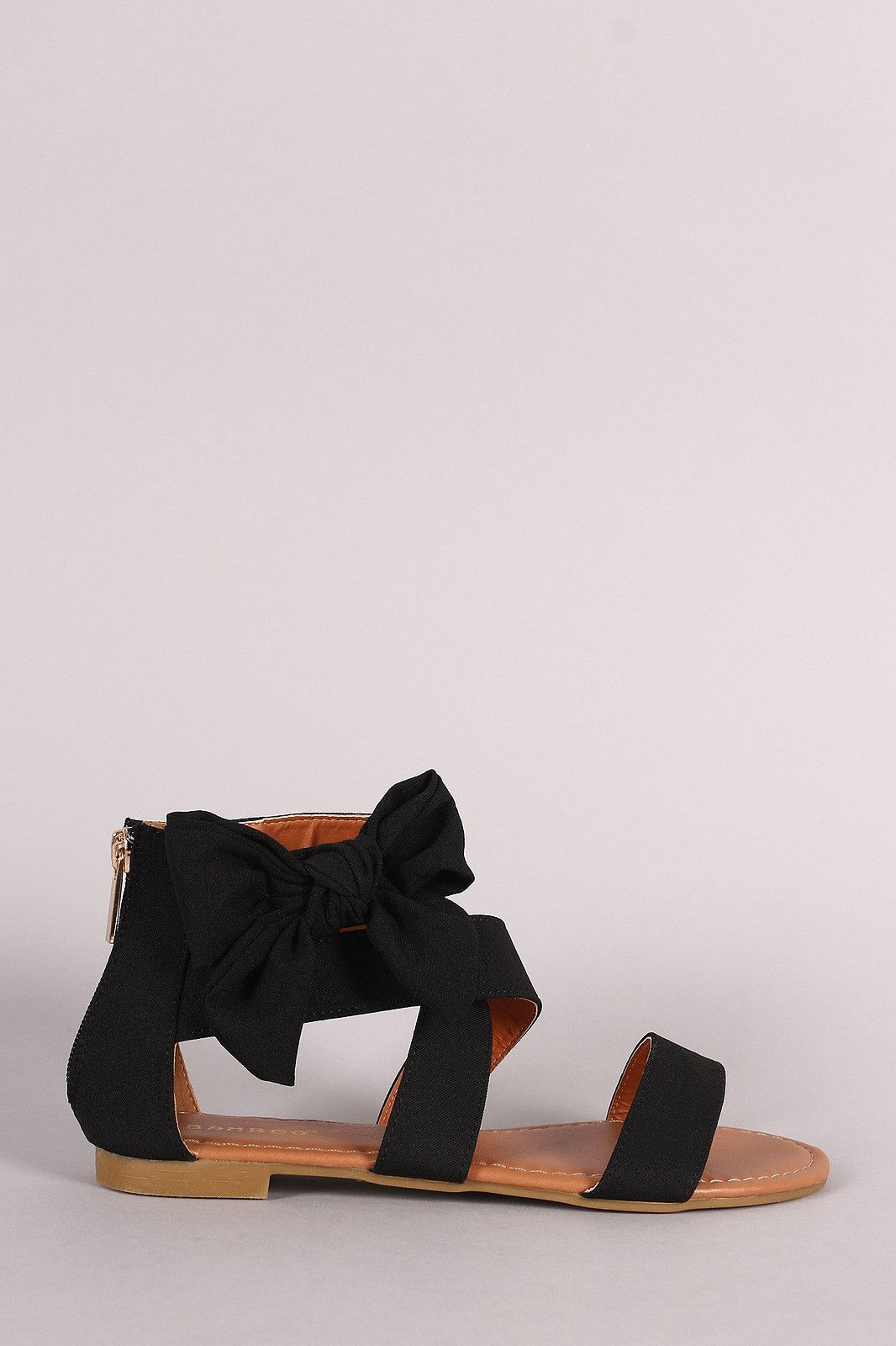 Bamboo Strappy Bow Sandal   Bow sandals