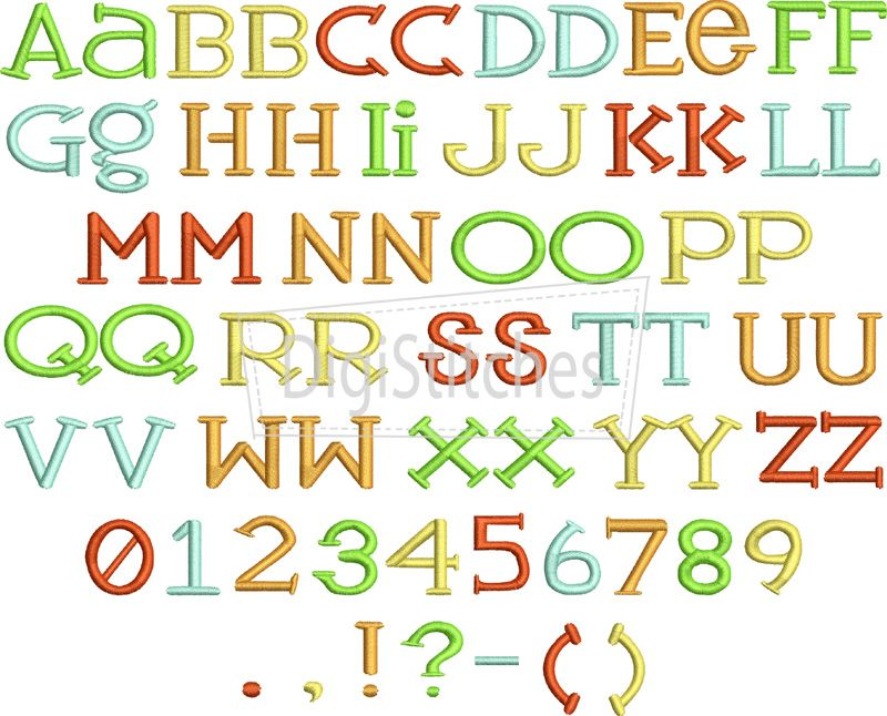 Party time embroidery font looking for a fun