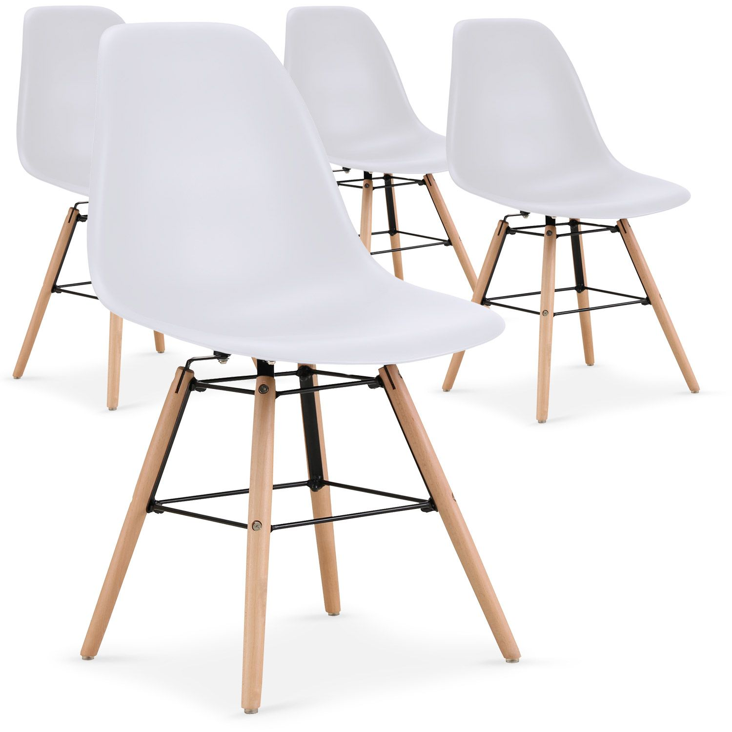 Lot De 4 Chaises Scandinaves Lisa Blanc En 2020 Chaise Scandinave Salle A Manger Elegante Chaise
