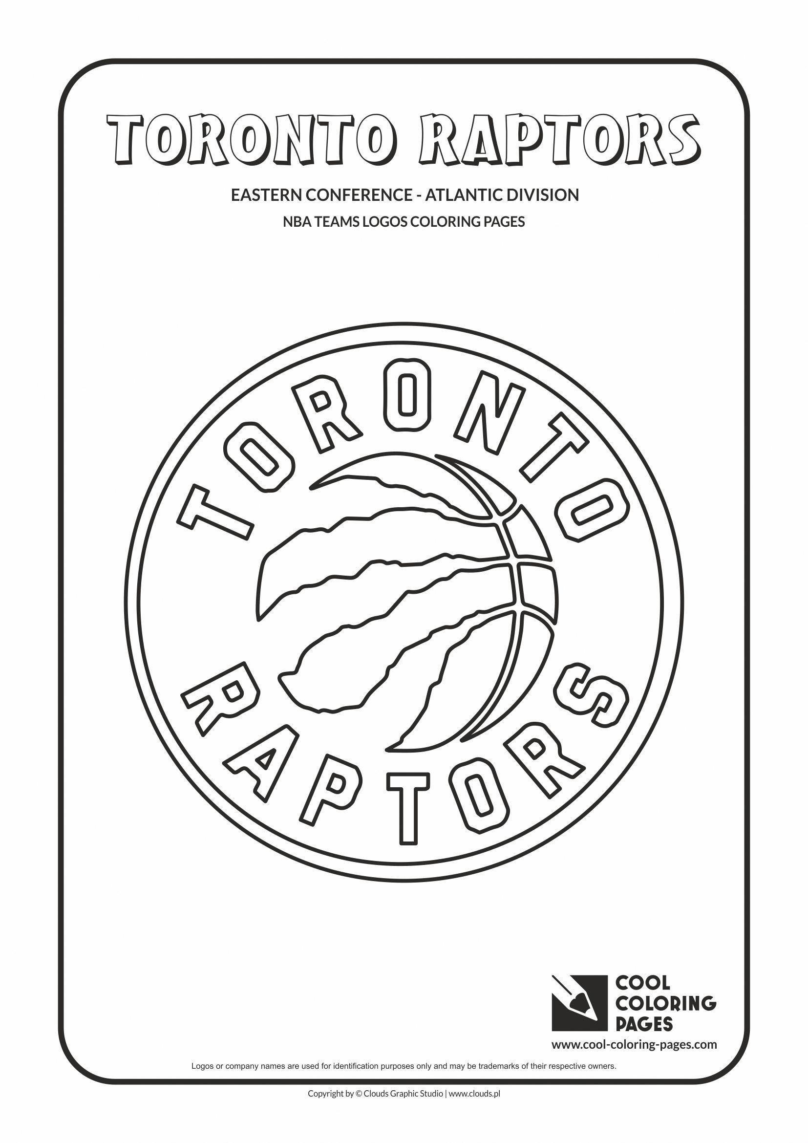 Toronto Raptors Nba Basketball Teams Logos Coloring Pages Cool