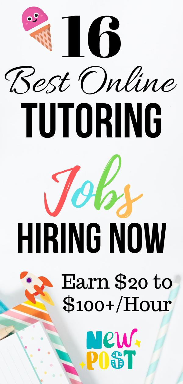 16 Online Tutoring Jobs Sites Create The Opportunities Tutoring Jobs Online Tutoring Jobs Online Tutoring