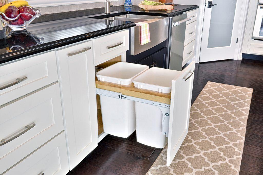 Kitchen Cabinet Trash Can Hardware   Kitchen trash cans ...