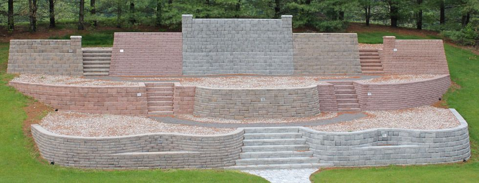 E Dillon Company Small Yard Landscaping Retaining Wall Landscaping A Slope