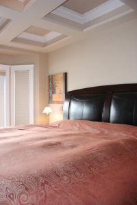 Show home bedroom view 2 - elegant headboard