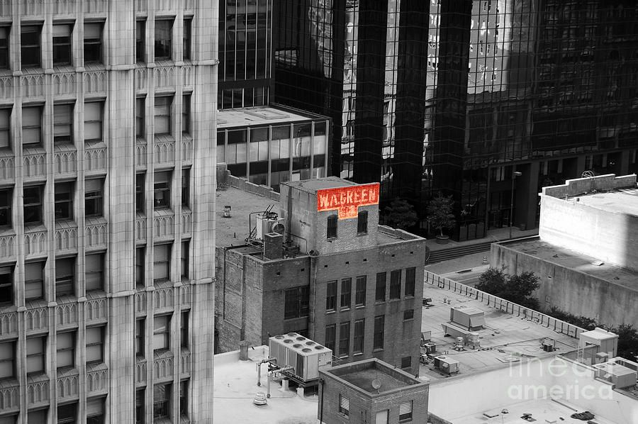 Travelpixpro dallas photograph dallas texas red color splash black and white by shawn obrien
