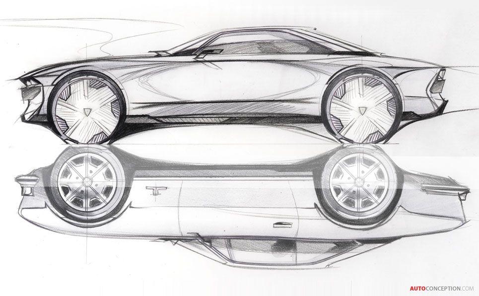 Peugeot reveals retro futuristic e legend concept pinterest peugeot voiture dessin - Croquis voiture ...