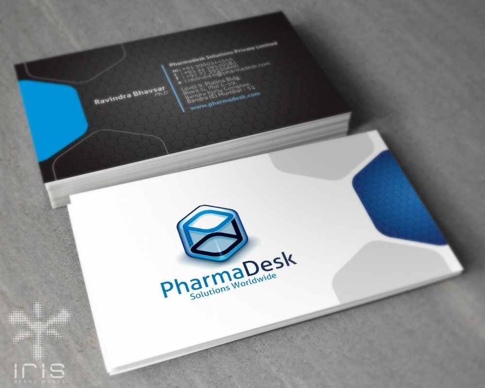 business card design for a pharmaceutical company | Corporate ...