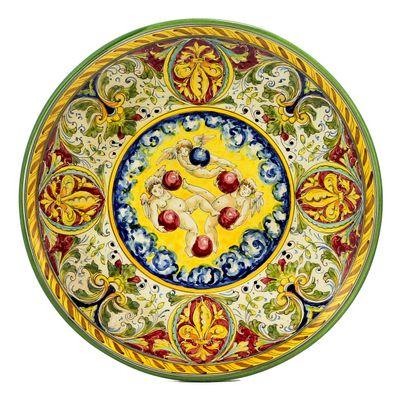 Majolica Medici Collection plate at Artistica | Italian Ceramics ...