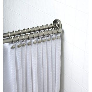Zenith Products 36601bn01 Double Premium Shower Curtain Rod Brushed Nickel Shower Curtain Rods Shower Curtain Curtain Rods
