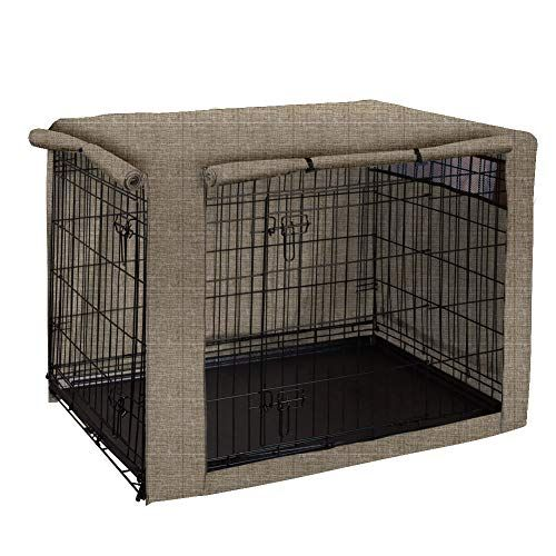Dog Crate Cover Ventilated Pet Keneel Cover Durable Double Door Polyester Dog Crate Cloth Cover Air Flow Universal Fit For Wire Dog Crate Dog Supplies Onli In 2020 Dog Crate Cover