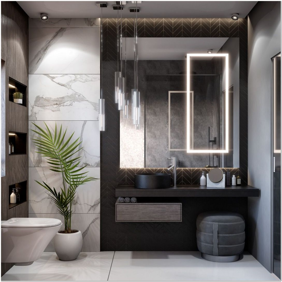 51 Modern Bathroom Design Ideas Plus Tips On How To Accessorize Yours 7 Decorincite In 2020 Modern Bathroom Modern Bathrooms Interior Top Bathroom Design Bathroom furniture design ideas