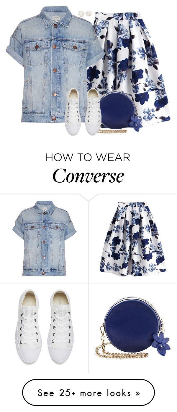 """""""№932"""" by a2k2011 on Polyvore featuring Current/Elliott, Converse and Chanel"""