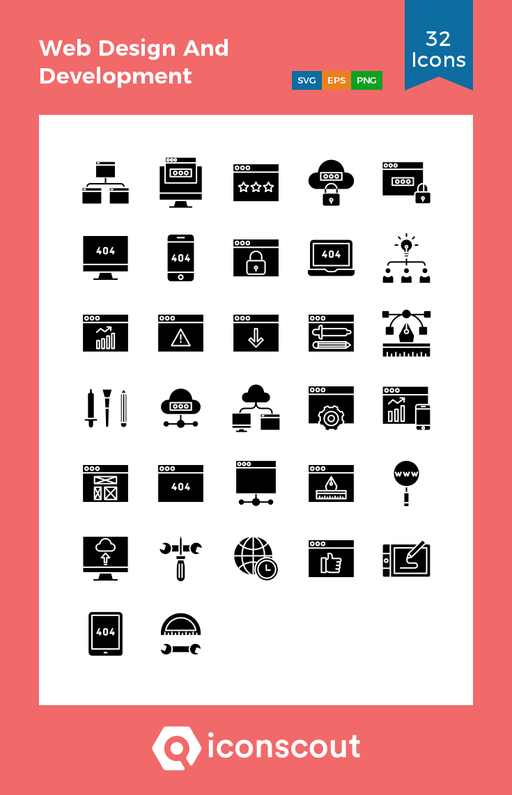 Download Web Design And Development Icon Pack Available In Svg Png Eps Ai Icon Fonts Web Design Web Development Design Icon Pack