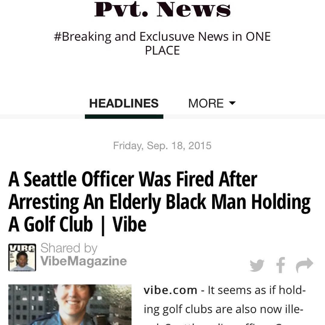 #Seattle #Police #Officer #FIRED 4 #Altercation w/ #Black #Man t.co/8zY1RzwmVj #PvtNews