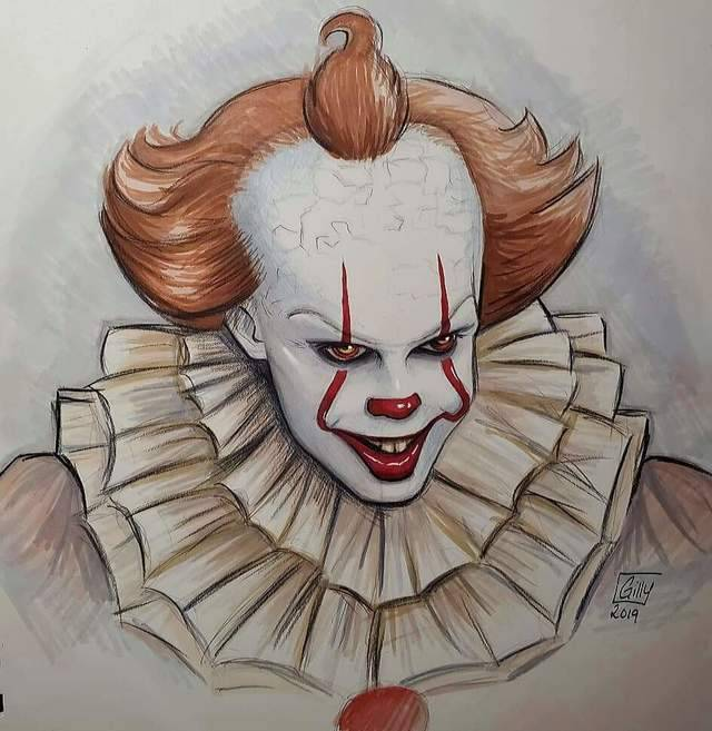 pennywise x reader  tumblr  drawings horror drawing
